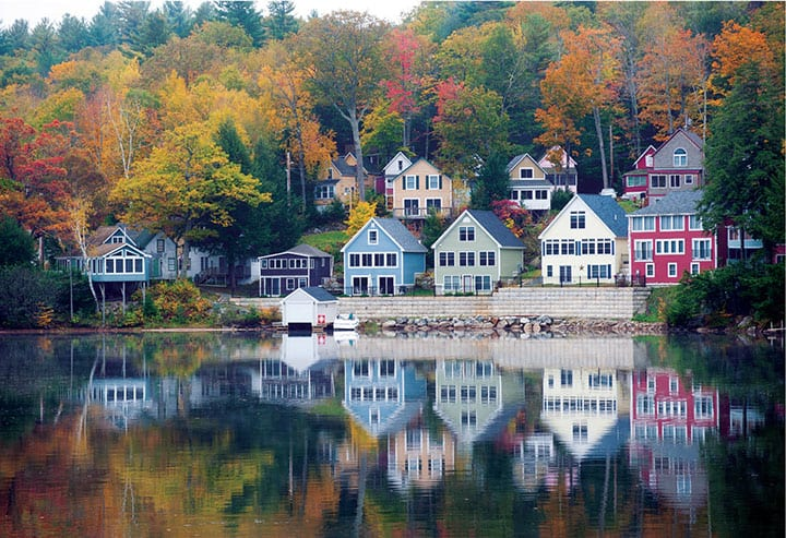 boathouses on lake