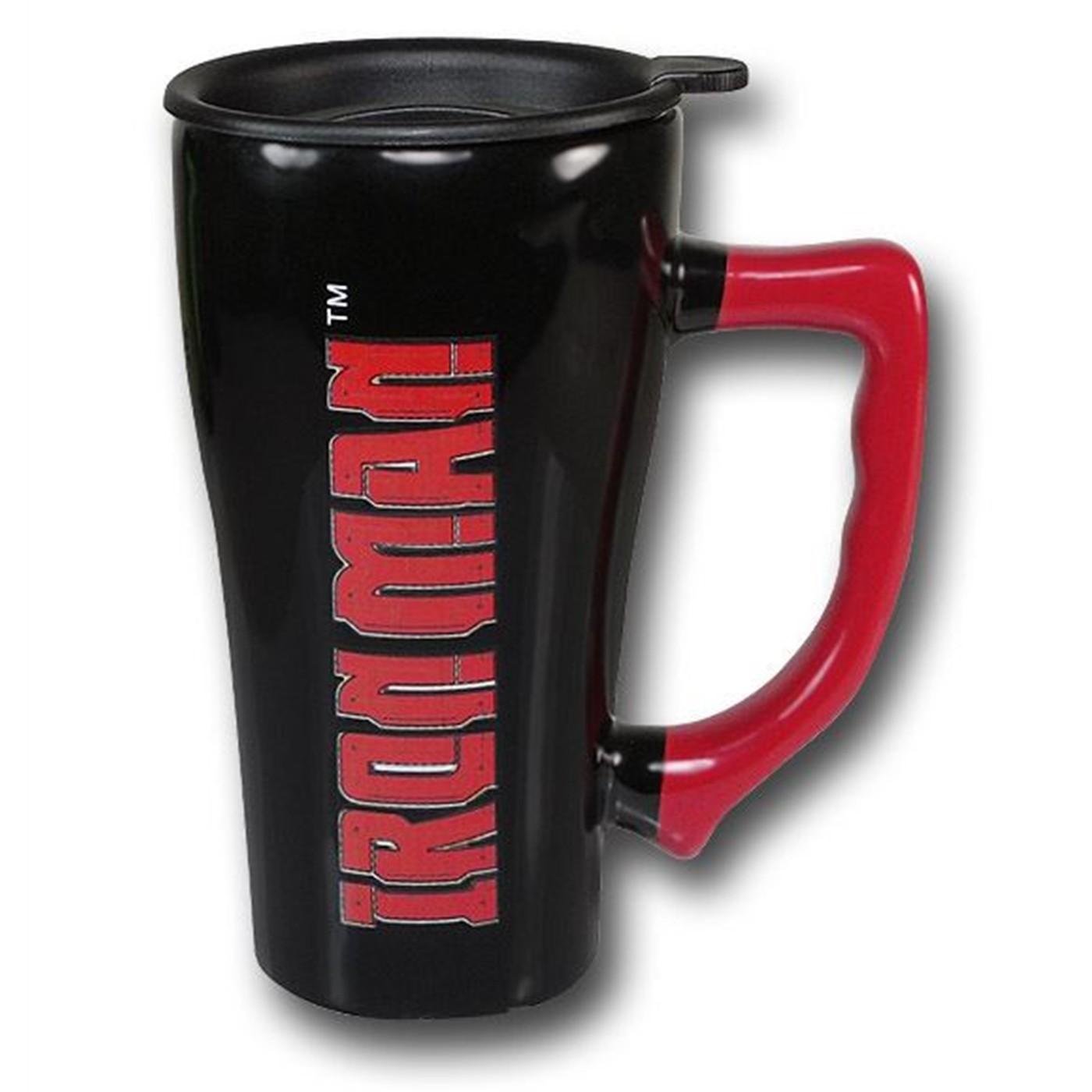 Iron Man 16oz Ceramic Repulsor Travel Mug