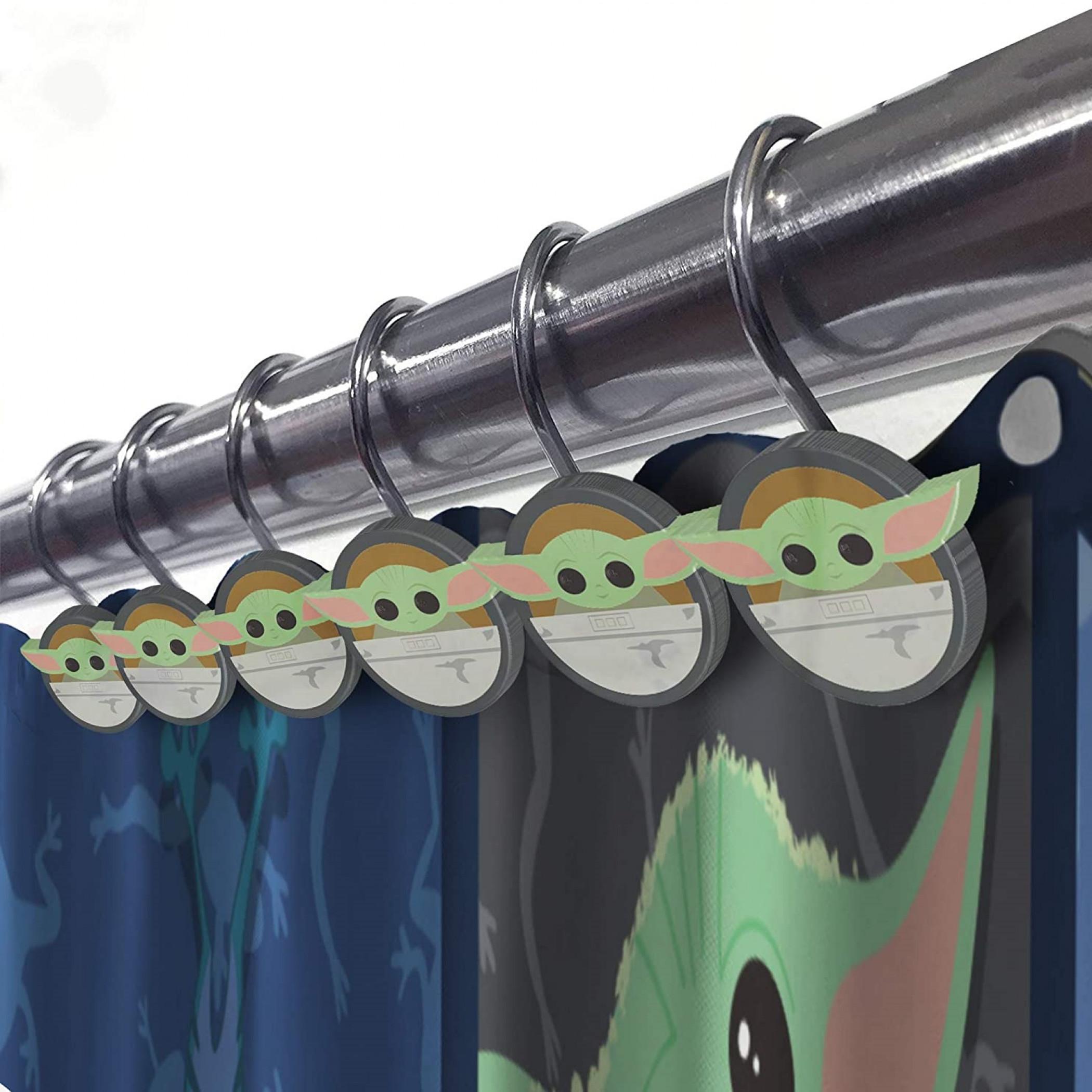 child shower curtain and hooks set