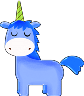 Unicorno, Cartone Animato, Blu, Ragazzo Unicorno