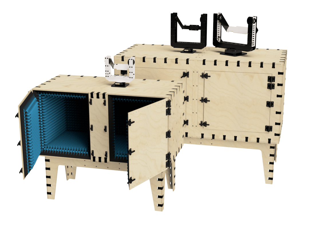 Test chambers and positioners by mmWave Test Solutions