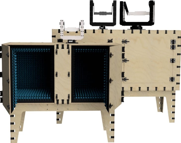 Antenna test chambers and positioners from mmWave Test Solutions