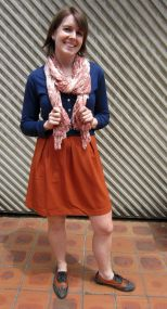 scarf: witchery, top: my ex-work, dress: modcloth, shoes: jeffrey campbell (via Free People)