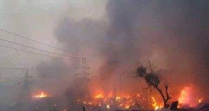 massive fire