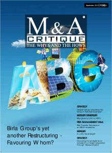 M&A Critique September 2016