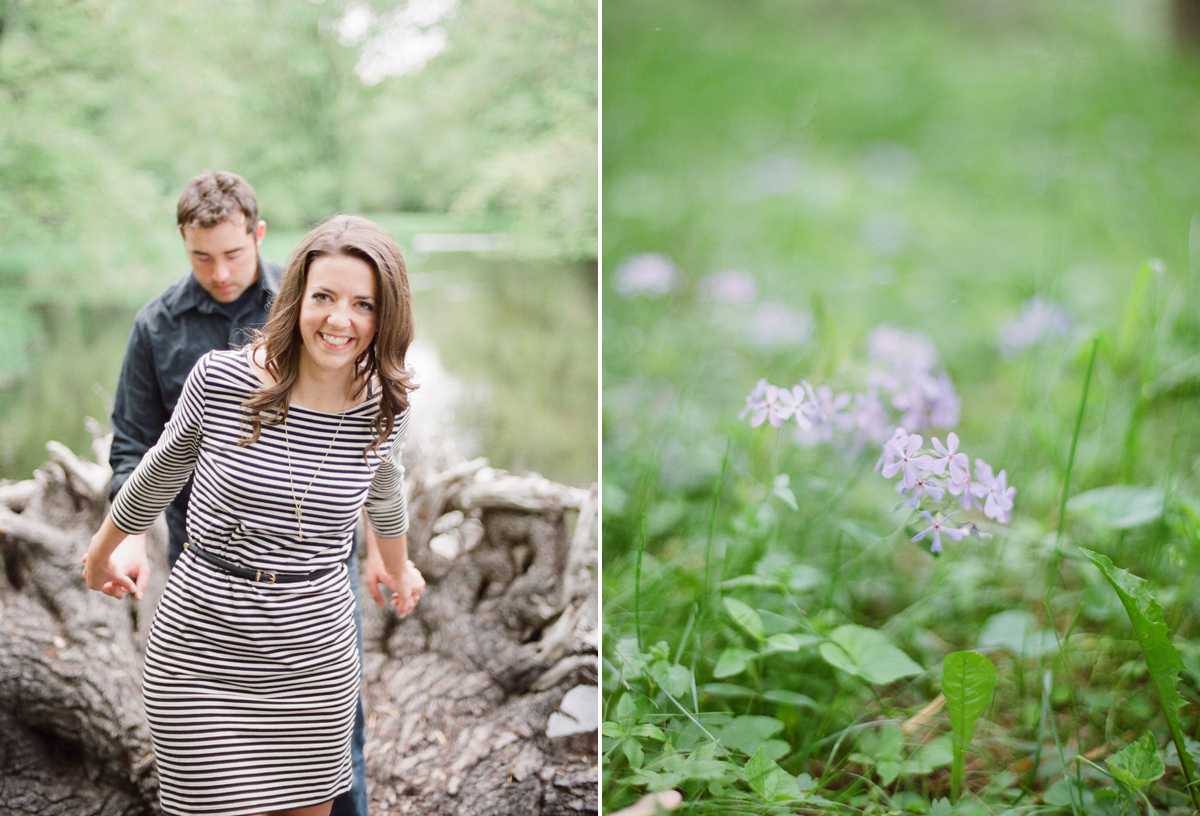 Into the Outdoors: A Woodsy Wisconsin Engagement Session   Wisconsin Bride