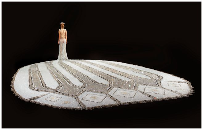Fantasy: The Largest Beaded Wedding Gown In The World
