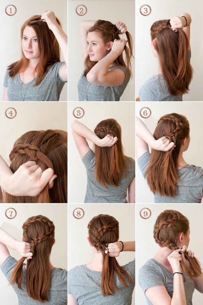 The Circlet French Braid: A How