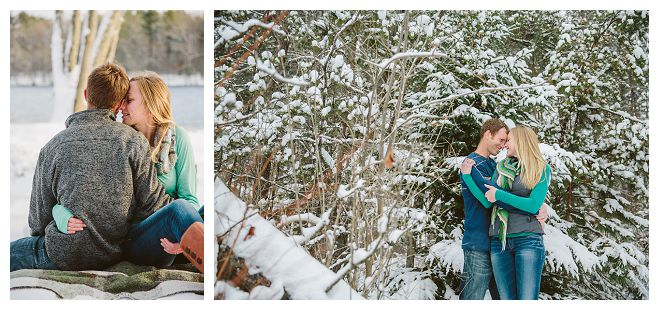 An Engagement Shoot That's Snow Much Fun!   Wisconsin Bride