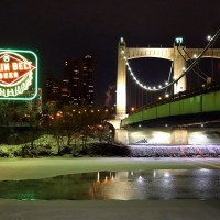 Relighting the Grain Belt Sign