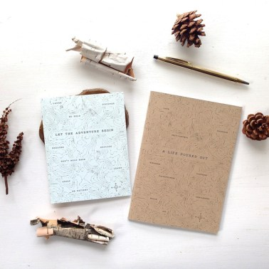 """""""Let the Adventure Begin"""" (Notebook & Cards Set) $12.75 [The Voice Community]"""