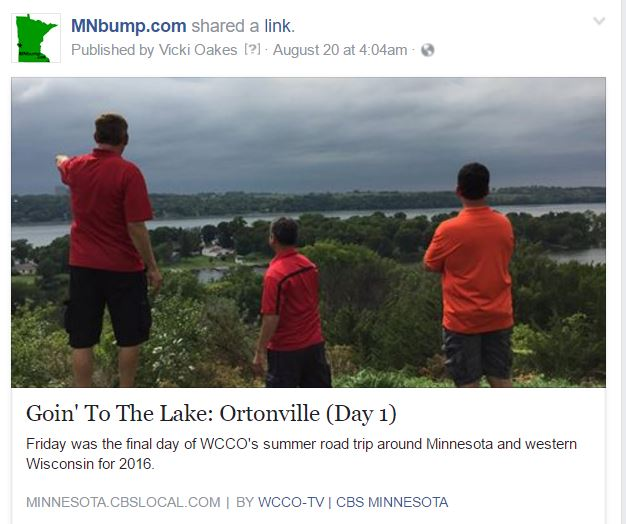 WCCO – Goin' to the Lake Series in Ortonville