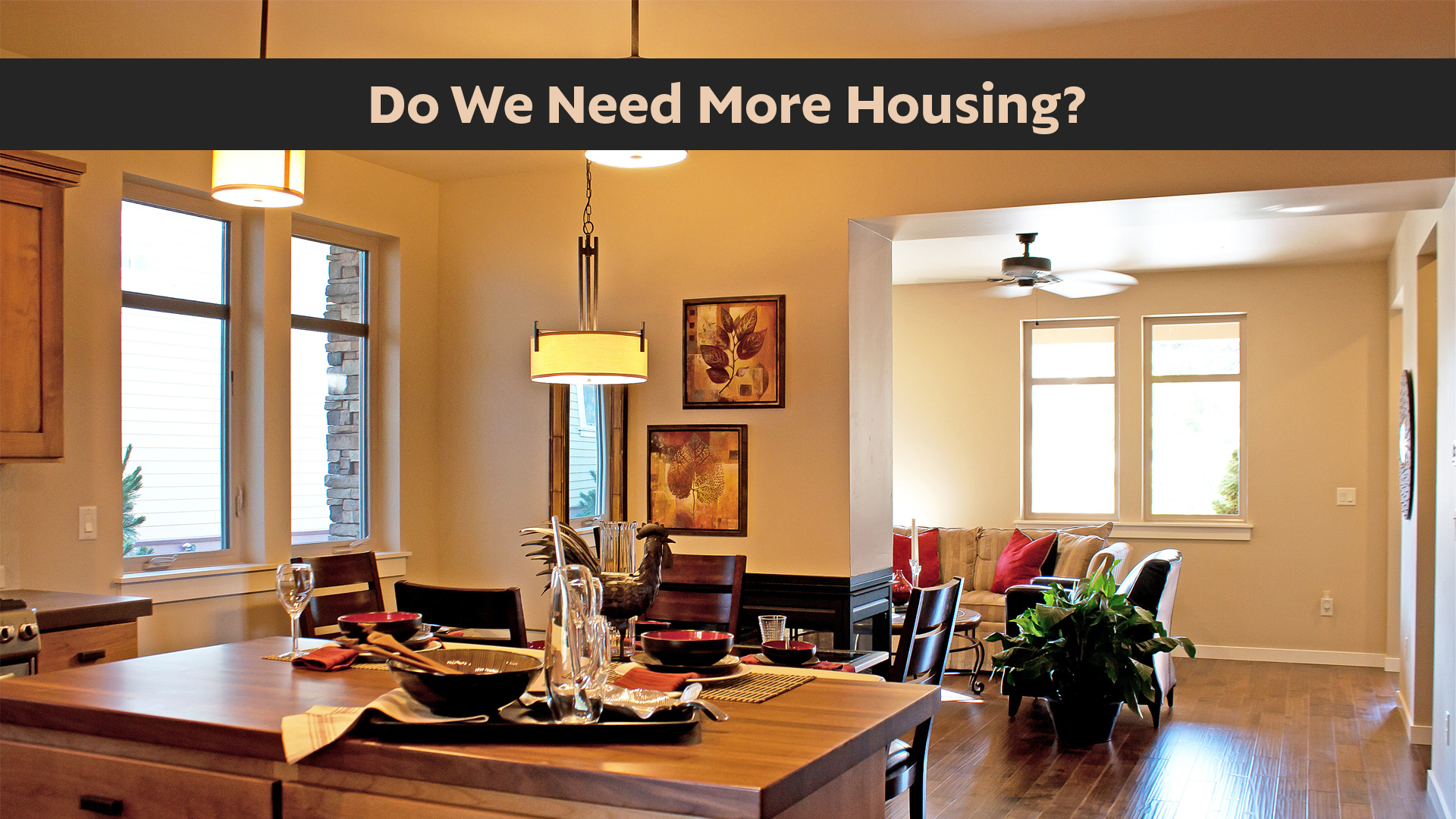 Do We Need more Housing & If So, What Kind?