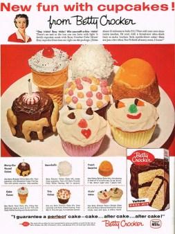 1950's Fun cupcake ideas by Betty Crocker.