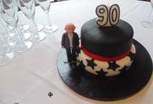 The cake for Ken's 90th birthday
