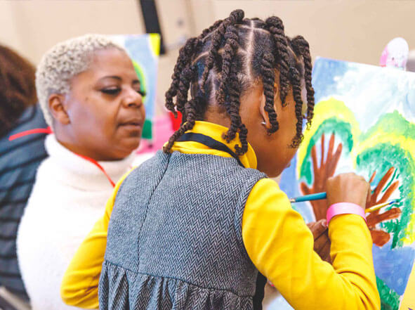 Mother and Daughter painting together   MNDEmpowered