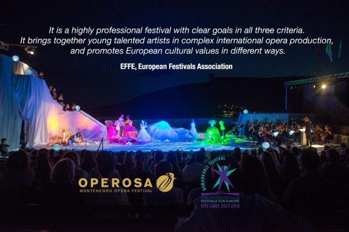 Operosa Montenegro Opera Festival Awarded with EFFE prize
