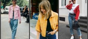 Купить цветные джинсовые куртки