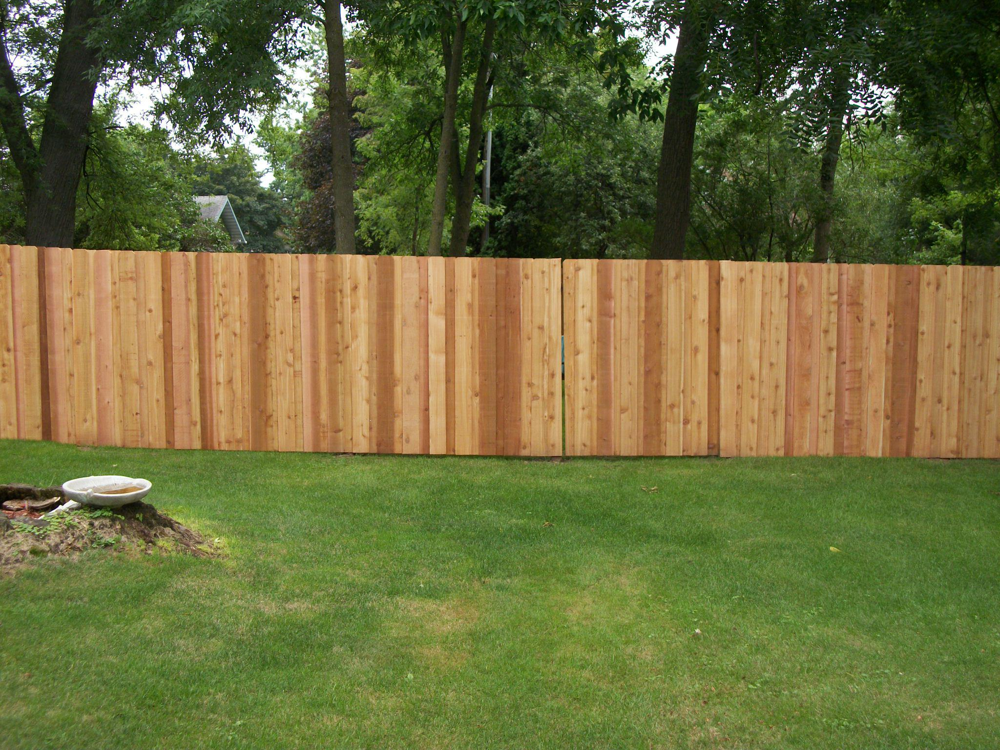 Cedar Fence Installation Spring Lake Park Mn Twin Cities Fence