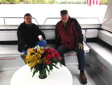 Brad Fuller & John Shardlow on boat