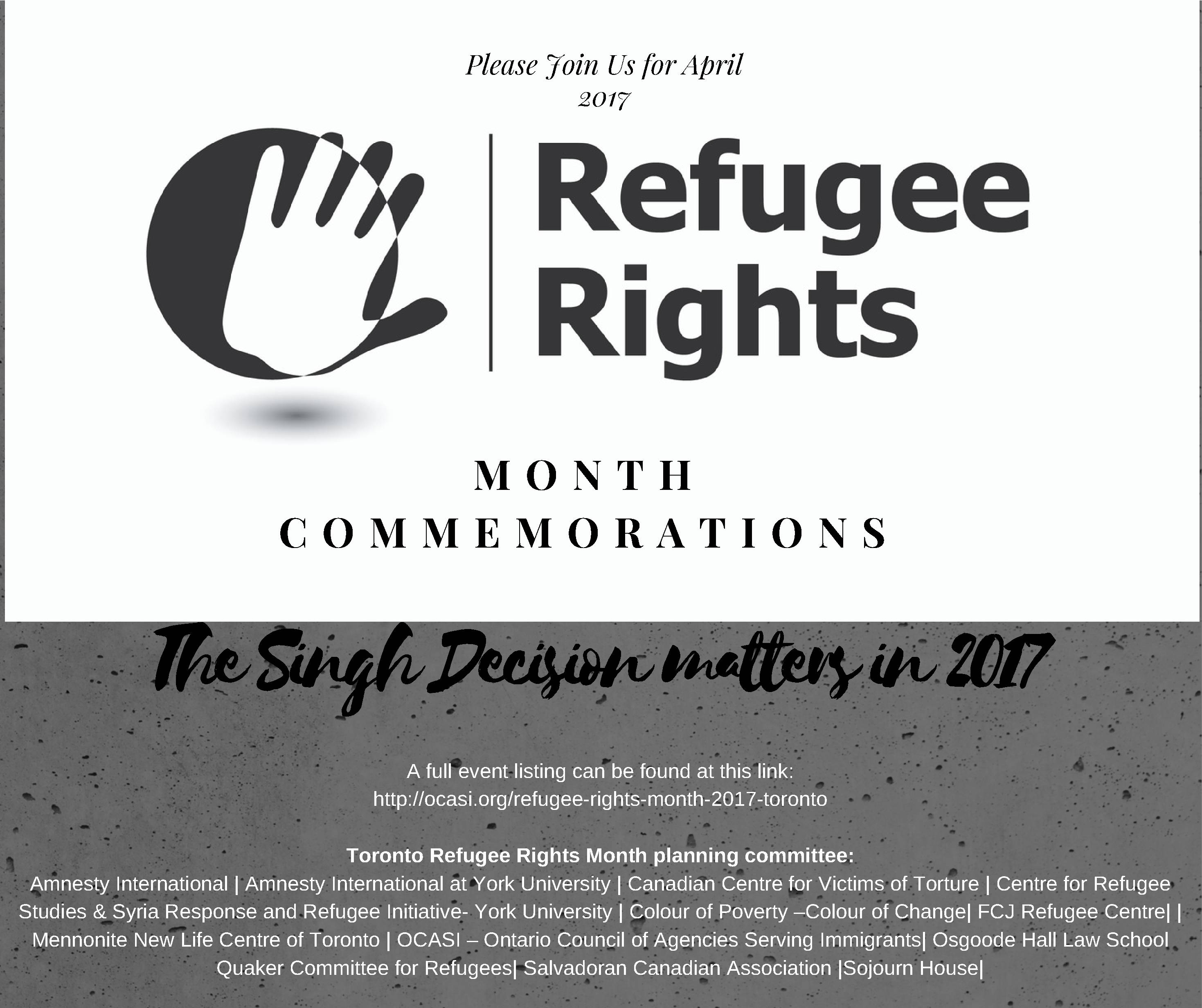 Refugee Rights Day 2017