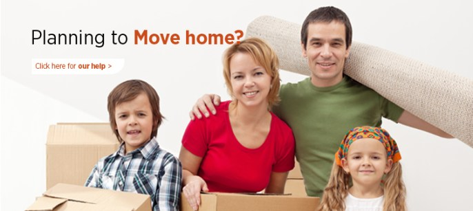 Assistance for families and elderly people moving to a new bungalow