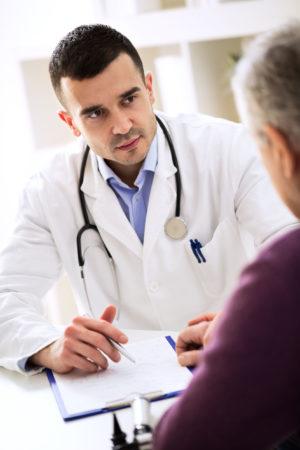 doctor listening