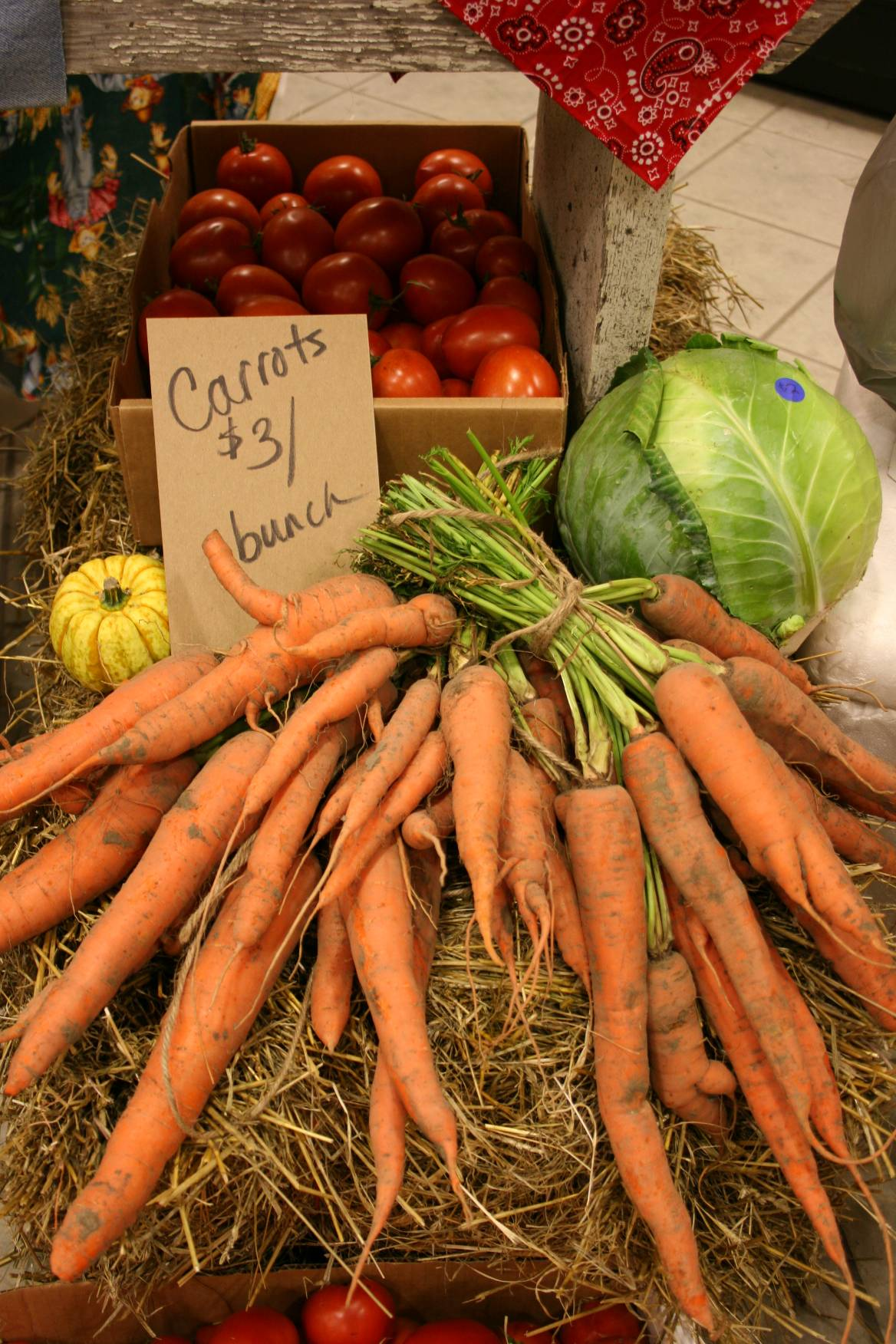 Fresh produce filled the country store shelves.