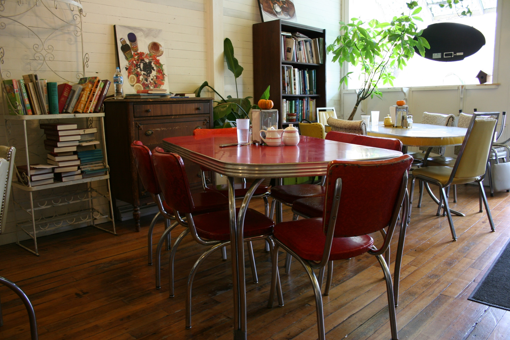 retro cafe dining chairs metal thonet chair healthy and hearty at the highland in