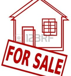 house for sale clipart 7404215 iconic illustration of a house and a sign for sale [ 960 x 1200 Pixel ]