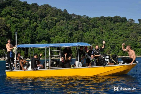 Post clean-up divers - Steven Lim