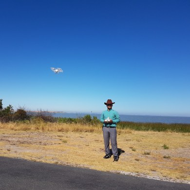 Me and My Drone near the Lake Albert