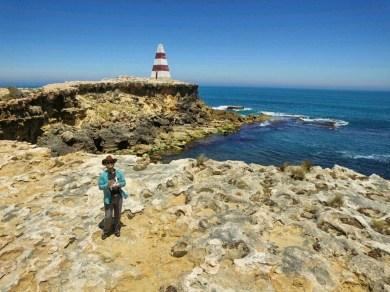 Helishot of me and the Obelisk, Robe, South Australia