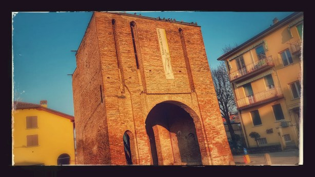 A historical monument in Pieve di Cento