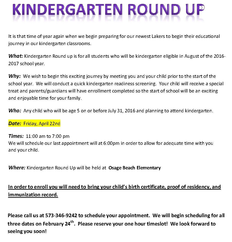 Kindergarten Roundup Flyer Template