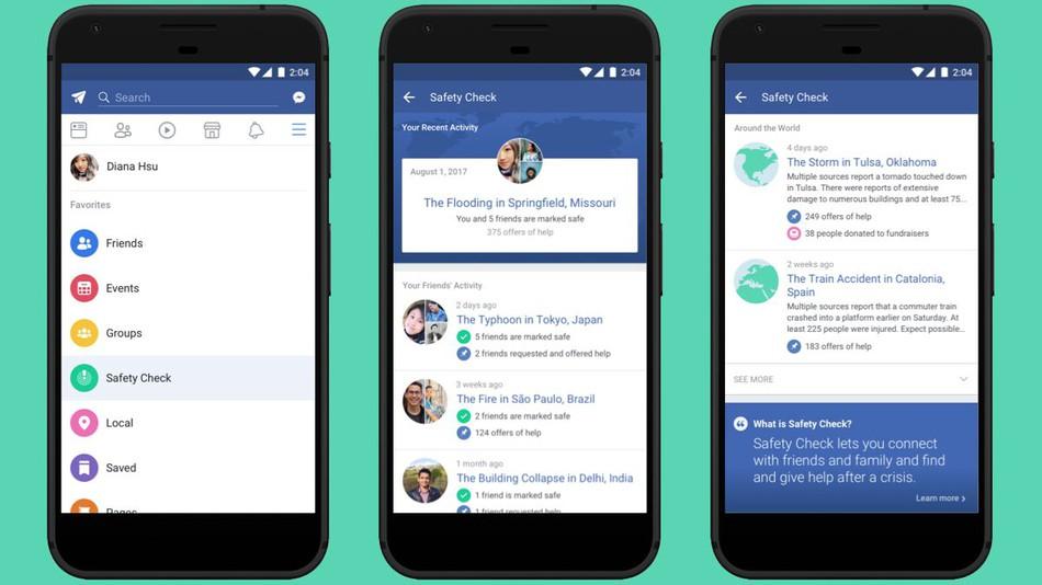 حصريا فيس بوك تضيف ميزة التحقق من السلامة