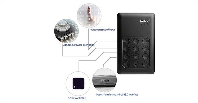 هارد Netac K390  الخارجي بمساحة تخزين 2 تيرا