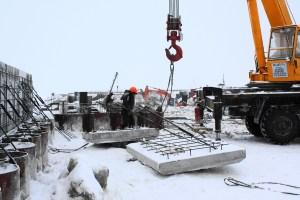 Строительство Авторечвокзала в посёлке Берёзово