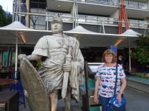 Carol on the wharf in Sydney