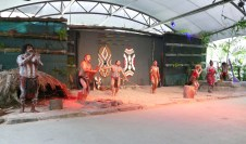 The Aboriginal dancers at the Tjapukai Cultural Park