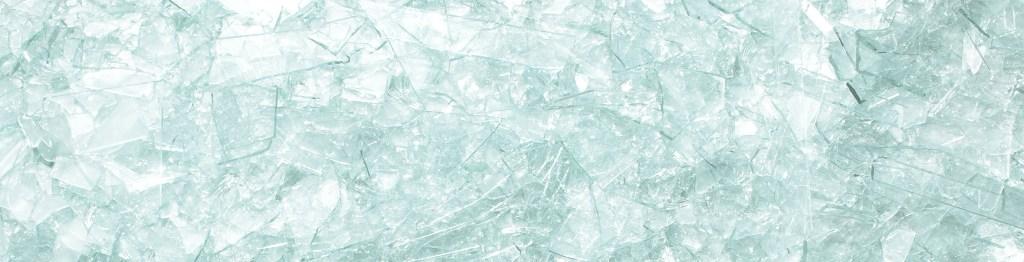 Bright shards of broken glass