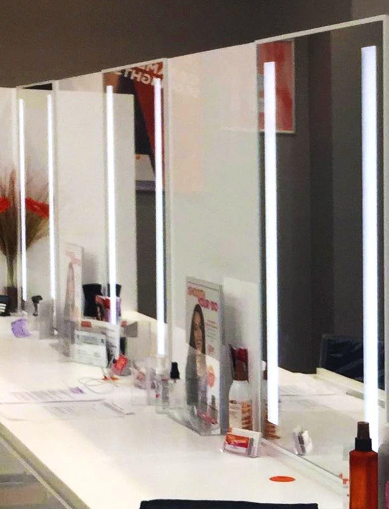 Moag Glass Sandblasted -Backlit Mirror Display