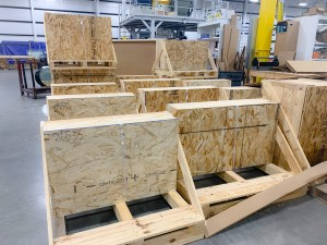 Crating & shipping Moag shop floor