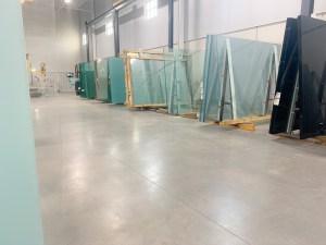 Glass stock Moag shop floor
