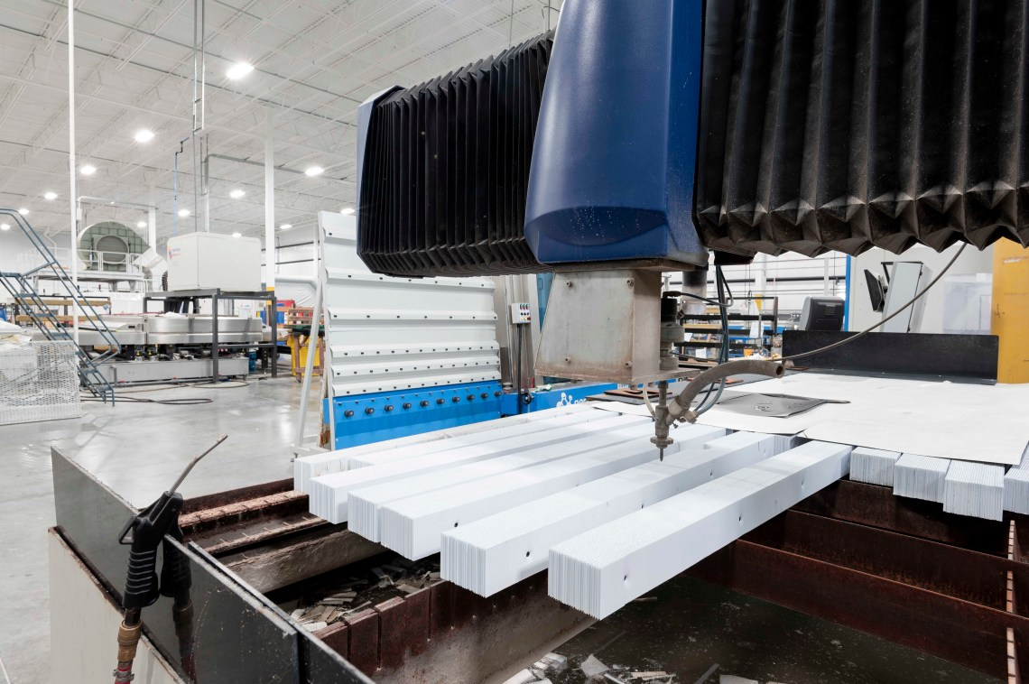 JC Moag Glass Flow Water Jet Glass Cutter and Vertical Washer