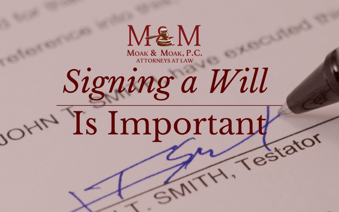 Signing a Will is Important