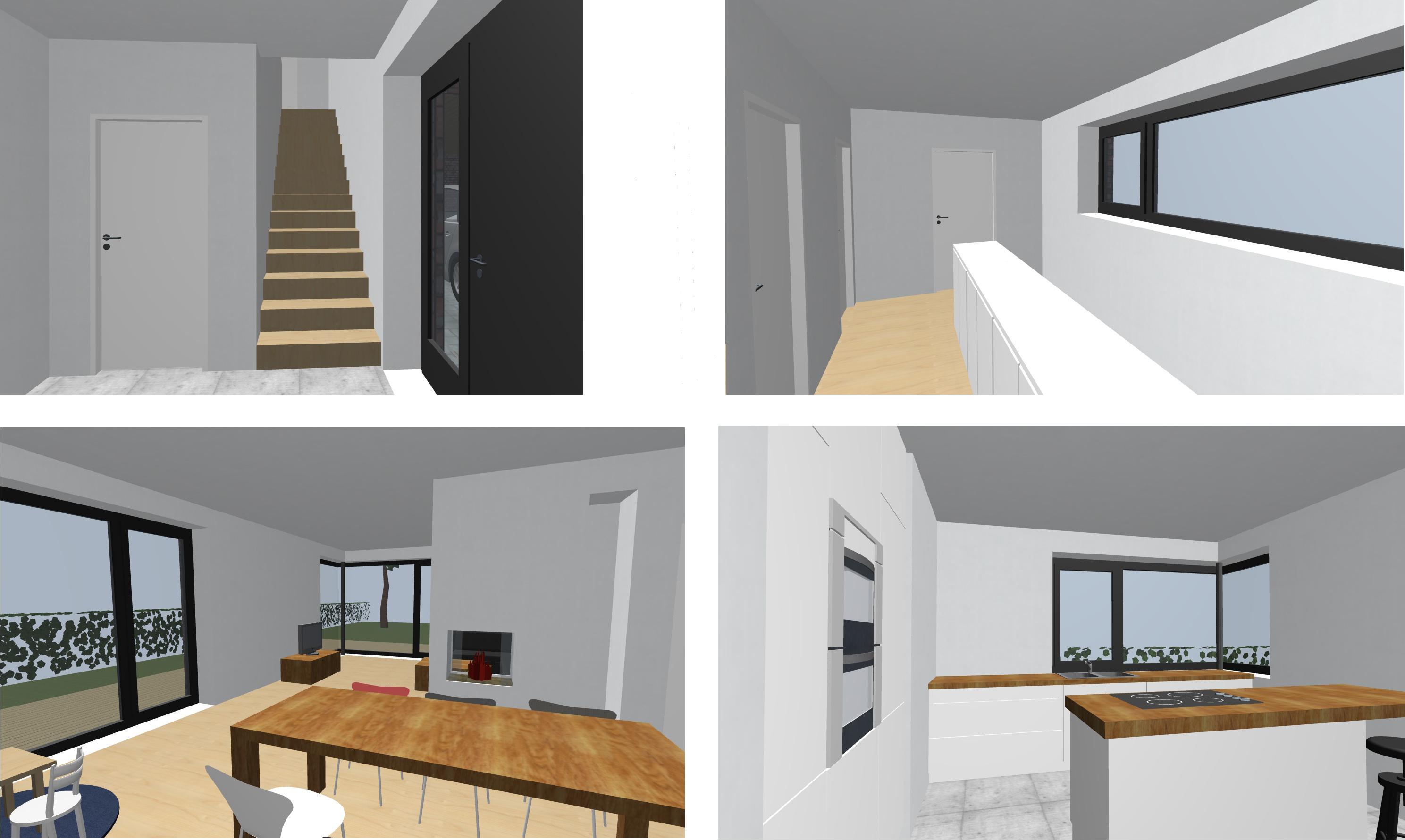 Modernes Treppenhaus Einfamilienhaus Haus Mit Atrium Bauen Wohn Design