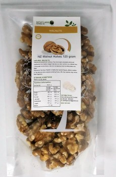 Walnuts NZ Grown Halves Crunchy Roasted 125 gram