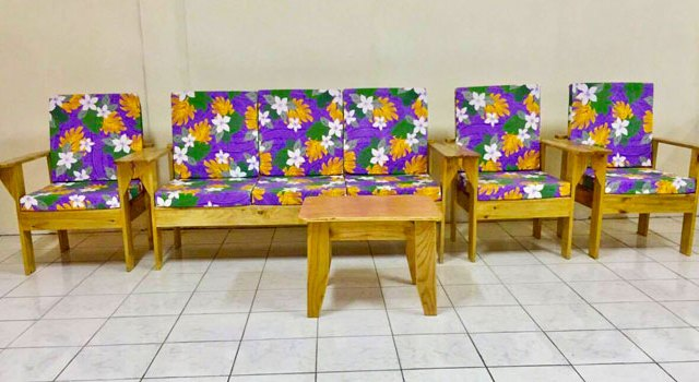 Wooden Lounge Set With Cushions