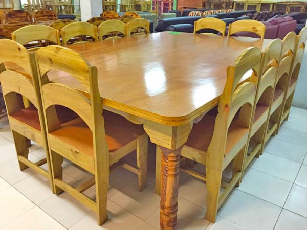 Wooden Table Set wit 12 chairs